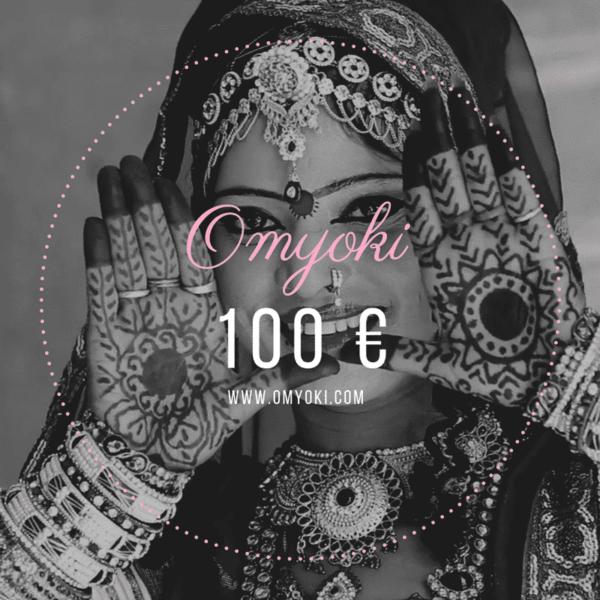 Carte cadeau bijoux de créateur 100 €