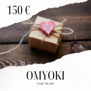 Fairtrade Schmuck Geschenkkarte 150 €