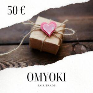 Fairtrade Schmuck Geschenkkarte 50 €