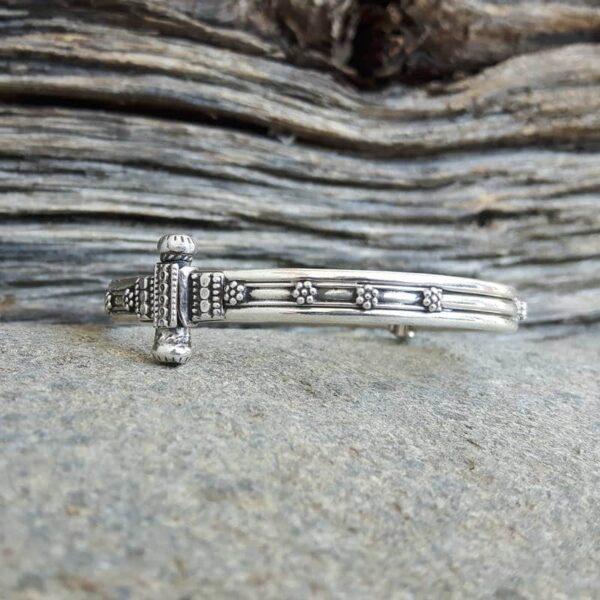 Bracelet jonc argent indien