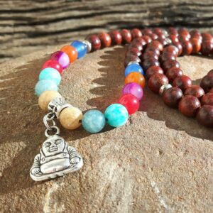 Mala Necklace 7 chakras - Designer Jewelry - Omyoki