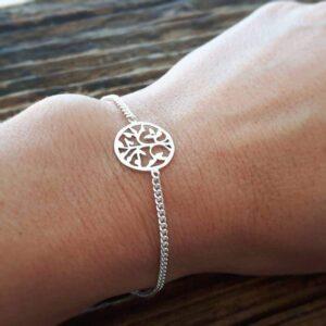 Silberner Baum des Lebens Armband