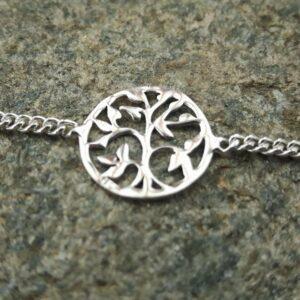 Silberner Baum des Lebens Armband - Designer Schmuck - Omyoki
