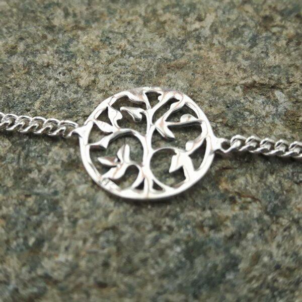 Bracelet arbre de vie en argent - bijoux de créateurs - Omyoki
