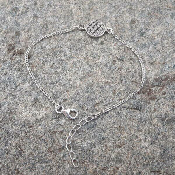 Bracelet fleur de vie en argent - Bijoux de créateurs - Omyoki