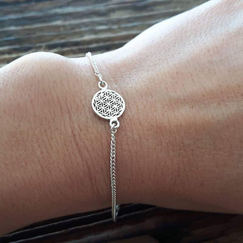925 braccialetto fiore d 39 argento gioielli di design omyoki. Black Bedroom Furniture Sets. Home Design Ideas