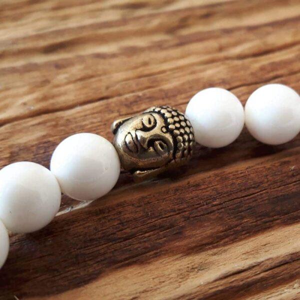 Bracelet mala pureté - perle Bouddha en laiton - Omyoki