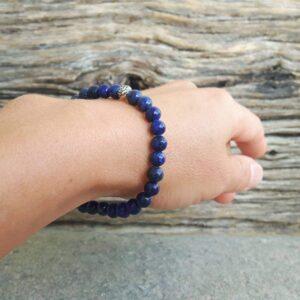 Bracelet mala en lapis lazuli