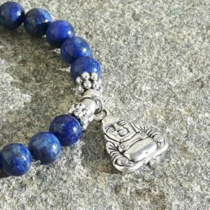 Bracelet mala lapis lazuli BOUDDHA