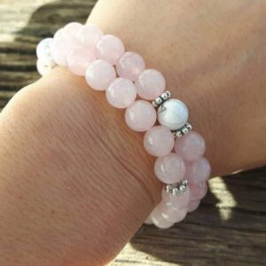 "Bracelet quart rose ""douceur"""