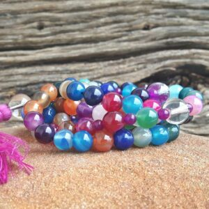 Collier mala multicolore happiness