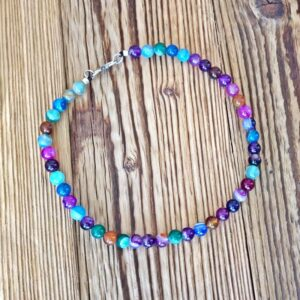 Multicolored choker necklace