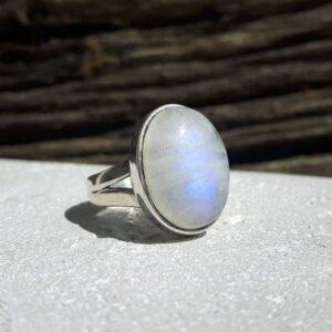 Bague pierre de lune argent - Omyoki