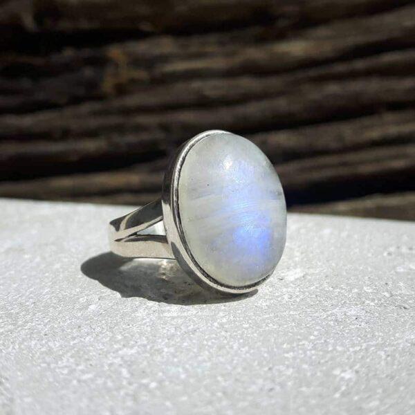 Bague pierre de lune argent