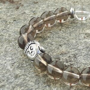 Smoky quartz and crystal detox bracelet - Omyoki