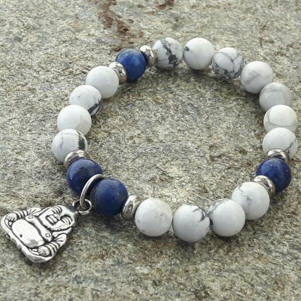 Bracelet enlapis lazuliet howlite