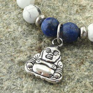 Bracelet mala howlite et lapis lazuli - Omyoki
