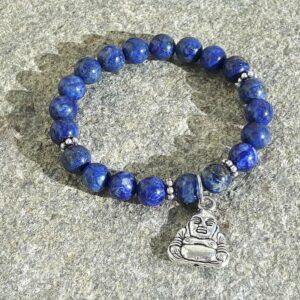 Mala lapis lazuli bracelet BOUDDHA