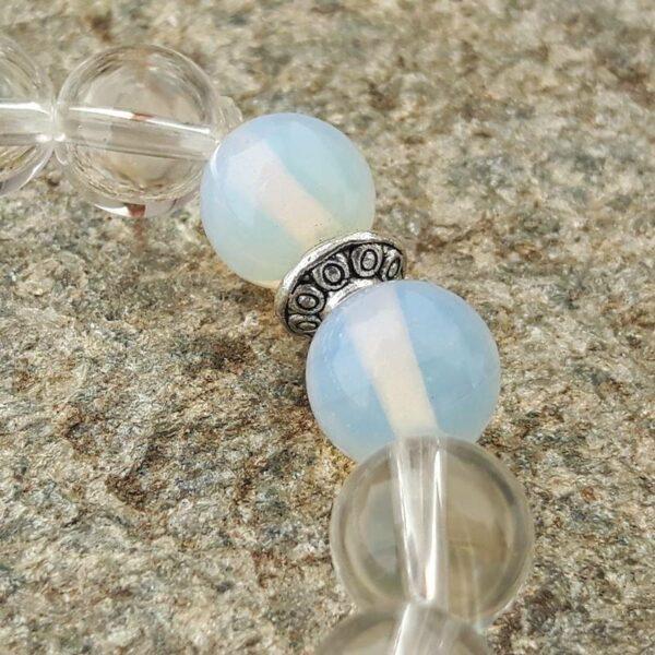 Bracelet Mala cristal et pierre de lune