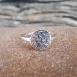 Silver flower ring - Omyoki