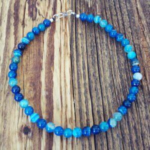 Collier en agate bleue OCÉANE