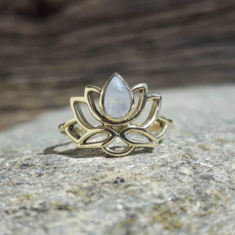 bague argent fleur de lotus