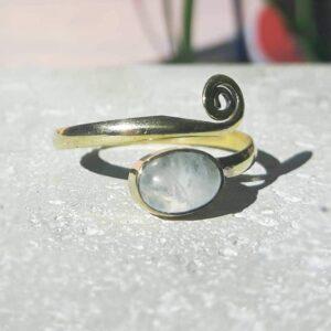 Bague pierre de lune or