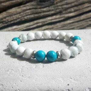 Turquoise and howlite bracelet