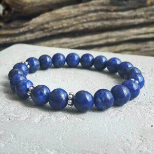 Bracelet en lapis lazuli - Omyoki bijoux de créateurs