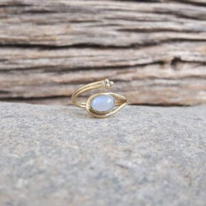 Moonstone fantasy ring
