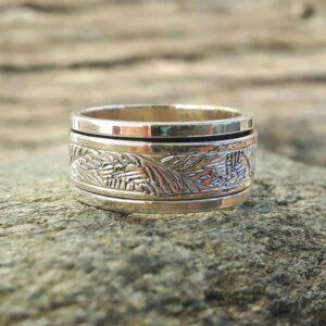 Bague anneau argent ZEN
