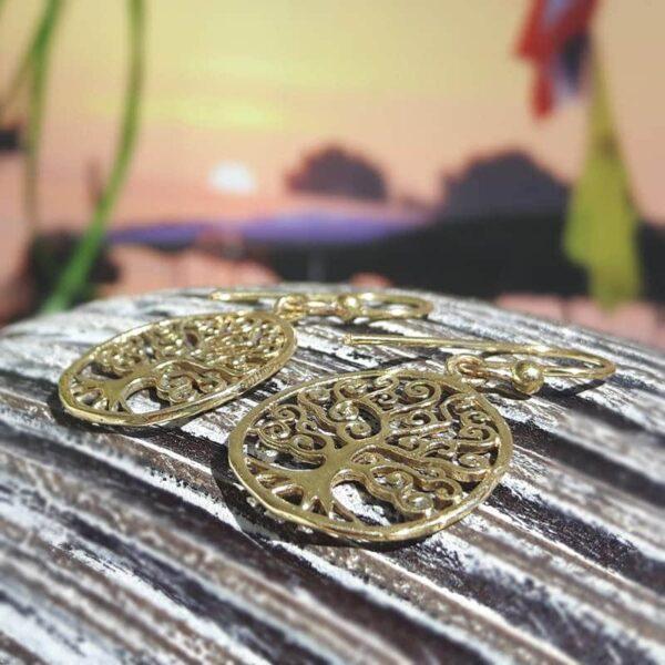 Boucles d'oreilles arbre de vie or