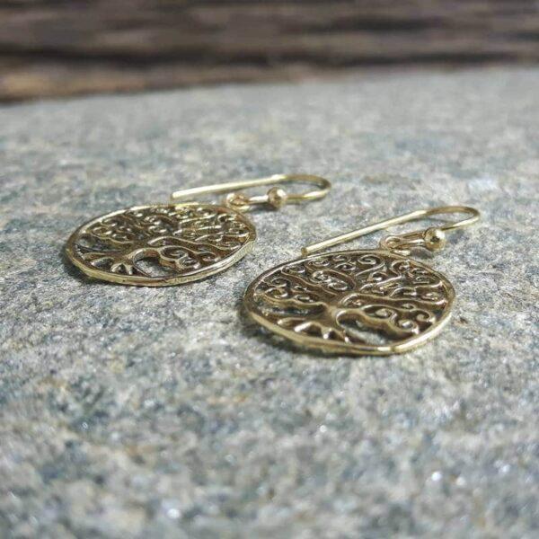 Boucles d'oreilles arbre de vie or - Omyoki
