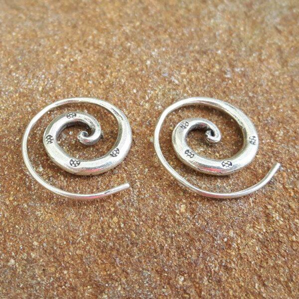 Boucles d'oreilles spirale Thaï