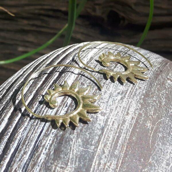 Boucles d'oreilles spirales tribal