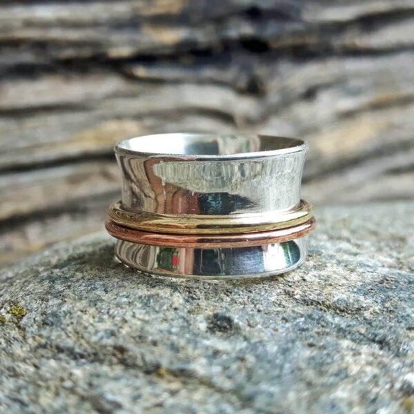 Gaïa zilveren meditatie ring