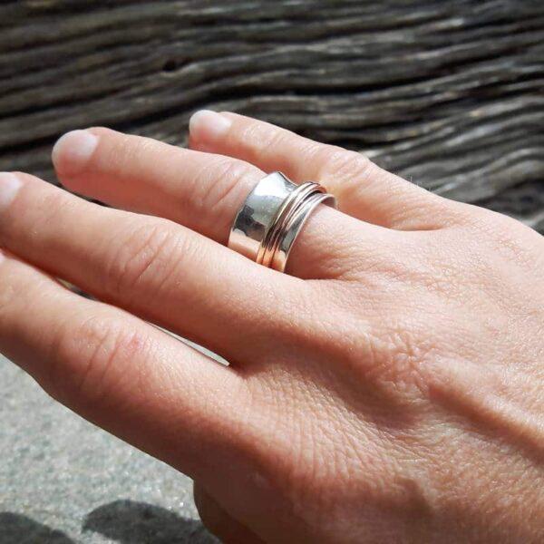Zilveren meditatie ring