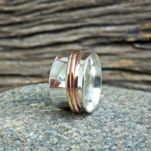 Серебряное кольцо медитации
