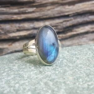 Cabochon Labradorit Ring