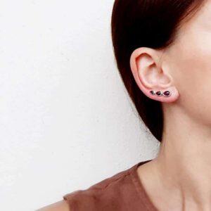 Boucles d'oreilles améthyste earlobe