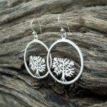 Boucles d'oreilles arbre de vie en argent