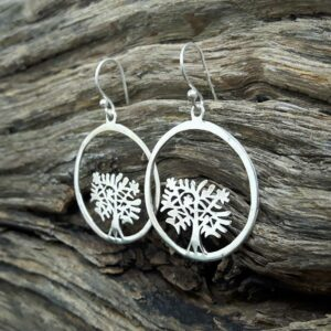 Pendientes Silver Tree of Life