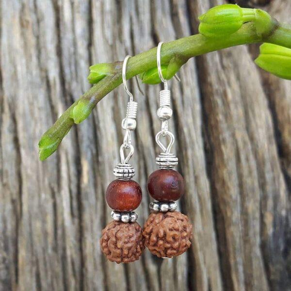 Boucles d'oreilles Rudraksha
