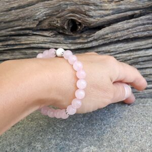"Rose quartz bracelet ""sweetness"""