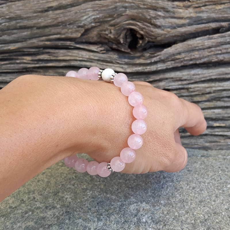 8ecf181b337b Pulsera de cuarzo rosa