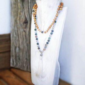 Mala Jaspis Ausgewogene Halskette