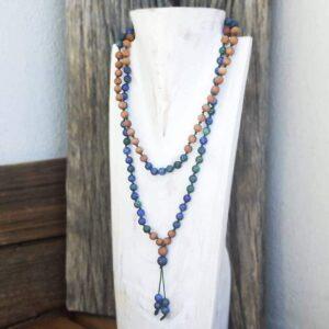 Lapis lazuli mala necklace Aromatherapy