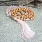collier mala en quartz rose Douceur