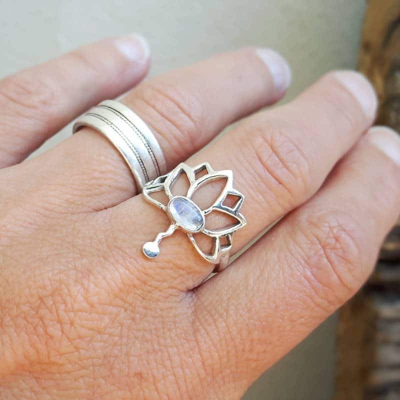 Lotus Flower Ring Omyoki Designer Jewelry