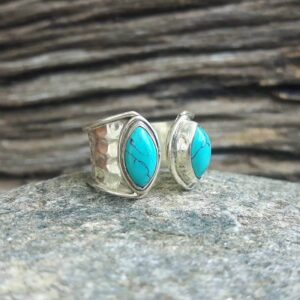 Natural turquoise ring Dô